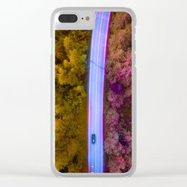 the purple road in the forest Clear iPhone Case