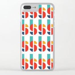 Bauhaus Kandinsky Geometry Typeface Clear iPhone Case