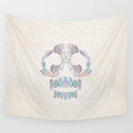 Aurora Quartz Skull Wall Tapestry