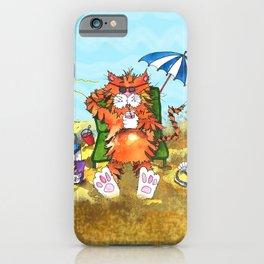 Cat at the Beach iPhone Case