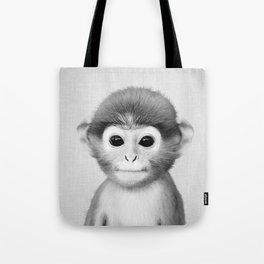 Baby Monkey - Black & White Tote Bag