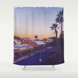 Old Town Twilight Shower Curtain