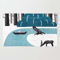 river Area & Throw Rugs featuring River by James White