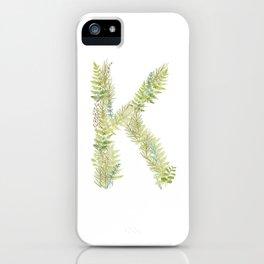 Initial K iPhone Case