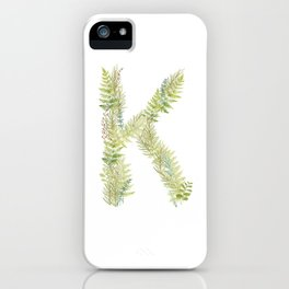 Initial K iPhone Case