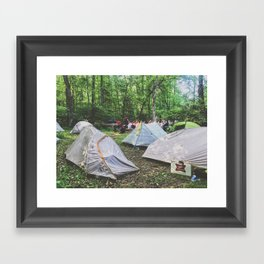 Tent City •Appalachian Trail Framed Art Print