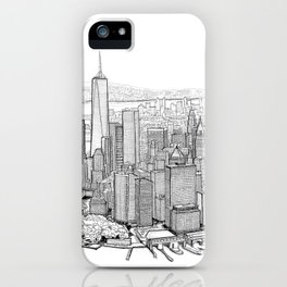 New York City, Lower Manhattan iPhone Case