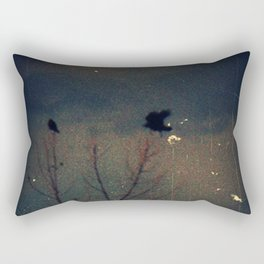 Raven's Gathering in the Blue Hour Rectangular Pillow