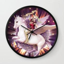 Andora: Drag Queen Riding a Unicorn Wall Clock