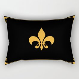 Gold And Black Rectangular Pillow