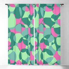 Green psychedelic Blackout Curtain