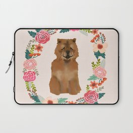 chowchow dog floral wreath dog gifts pet portraits Laptop Sleeve