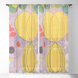 """Hilma af Klint """"The Ten Largest, No. 07, Adulthood, Group IV"""" Sheer Curtain"""