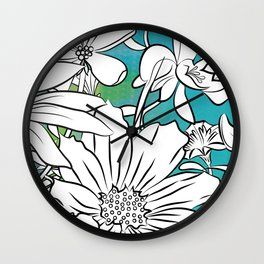 Flower Meadow Wall Clock