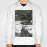 yosemite Hoodies featuring Yosemite Rapids by Angela McCall