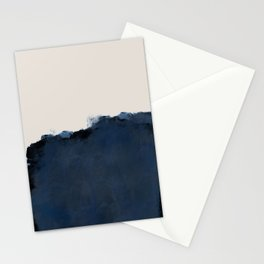 Abstract, blue, beige, indigo Stationery Cards