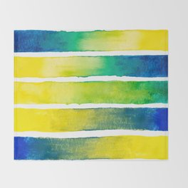Tropical Earth Abstract Watercolor Throw Blanket