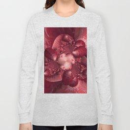 Silk and Satin Long Sleeve T-shirt