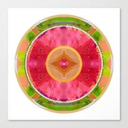 Rain Flower Mandala Canvas Print