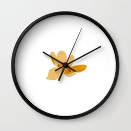 A lonely spring flower Wall Clock