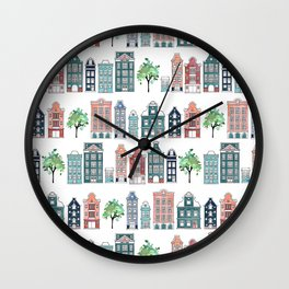Amsterdam neighbourhood Wall Clock