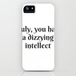 A Dizzying Intellect iPhone Case