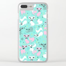 Swanky Kittens Clear iPhone Case