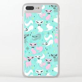 Swanky Kittens Clear iPhone Case