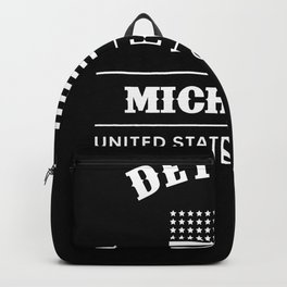 Detroit Michigan USA Backpack