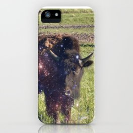 Cosmic Young Bull iPhone Case