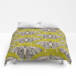 swallowtail butterfly citron basalt Comforters