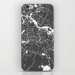 Amsterdam Gray on White Street Map iPhone Skin
