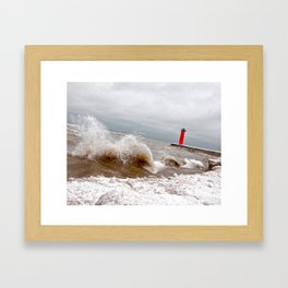 Here It Comes! Framed Art Print