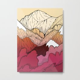 Autumnal Mountains Metal Print