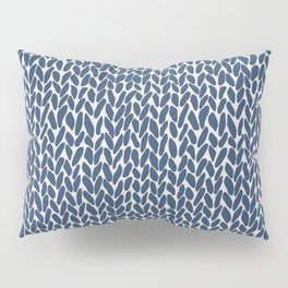 Hand Knit Navy Pillow Sham
