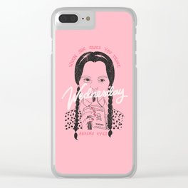 Wednesday Addams Eyes Clear iPhone Case