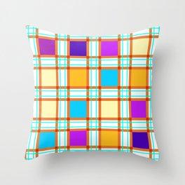 Colorf squares Throw Pillow
