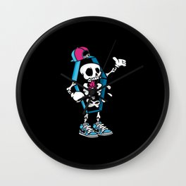 Comic - Coffin Swag Skull - Dark Wall Clock