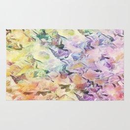 Vintage Soft Pastel Floral Abstract Rug