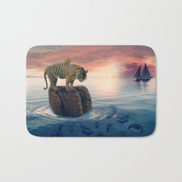 Tiger Drifting by GEN Z Bath Mat