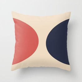 Unity : Red and Blue Throw Pillow