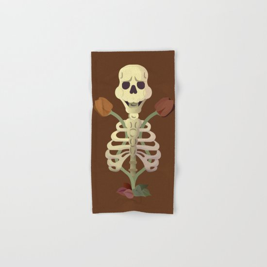 Old Bones with Dark Nature Hand & Bath Towel