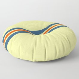 Classic Retro Stripes Amabie Floor Pillow