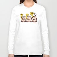 cows Long Sleeve T-shirts featuring Singing Cows by Zoo&co on Society6 Products