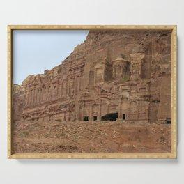 Temple facades Petra Jordan Serving Tray