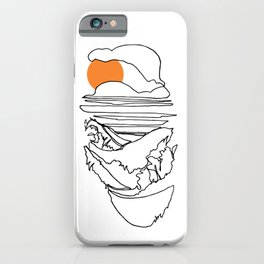 Japanese Beach Front :: Single Line iPhone Case