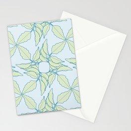 Serrated Leaflet Grid Pattern Stationery Cards