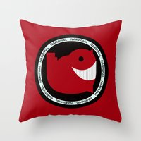 narwhal Throw Pillows featuring NARWHAL by David Nuh Omar