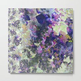 Purple and Green Abstract Garden Metal Print