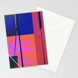 Modern Bold Pink Blue Orange Abstract Stationery Cards